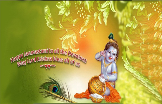Lord Krishna's Blessings for evryone.