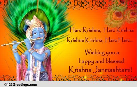 krishna janmashtami free janmashtami ecards greeting