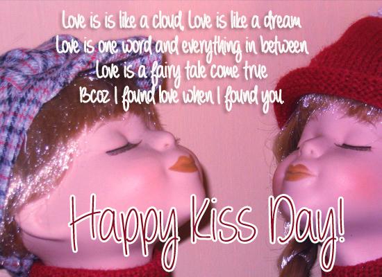 Sending a cute kiss!