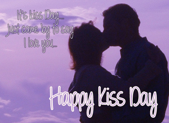 Cute Kiss Day Ecard.