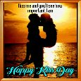 A Very Sweet Kiss Day Card.
