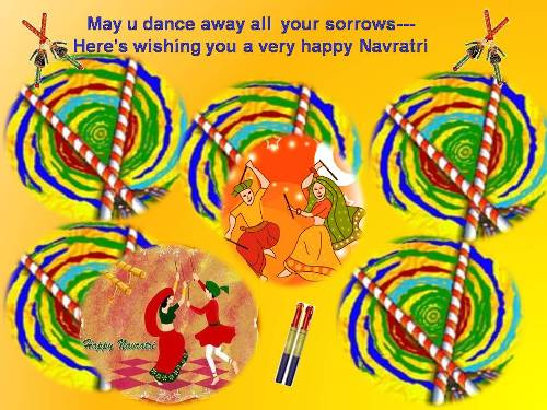 Joyous Card For Dear Ones On Navratri.
