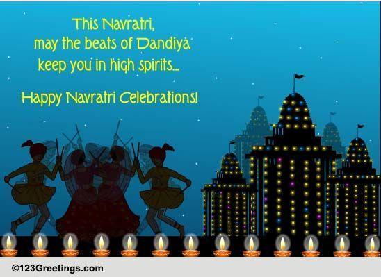 Beats Of Dandiya Free Navratri Ecards Greeting Cards 123 Greetings