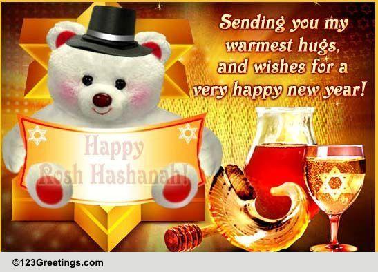 rosh hashanah warm hugs  u0026 wishes  free wishes ecards