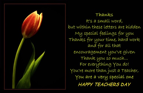 Happy Teachers' Day To U.