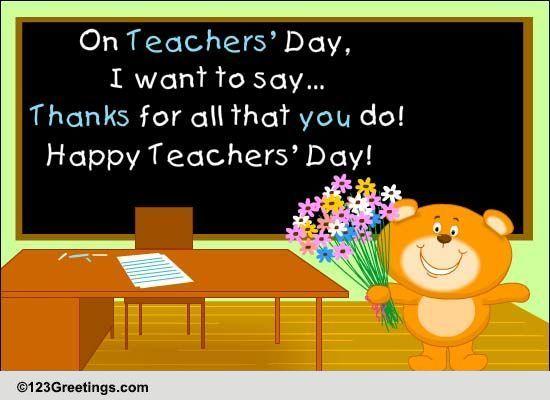 happy teachers u0026 39  day greetings  free teachers u0026 39  day  india