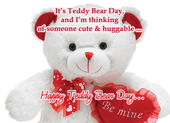 It's Teddy Bear Day!