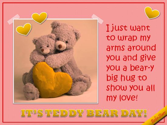 Send Teddy Bear Day!