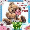 My Cute Teddy Bear Day Ecard.