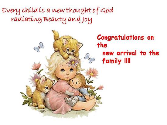 Joyful Welcome To A Baby In Family.