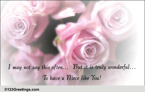 For Your Niece! Free Family Etc eCards, Greeting Cards | 123 Greetings