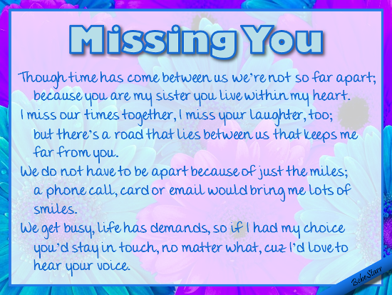 Missing You.