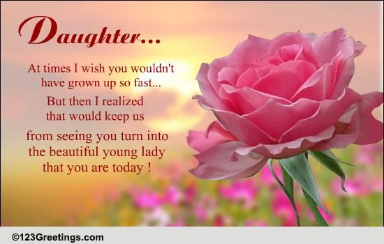 beautiful message for your daughter free son daughter ecards 123 greetings