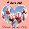 Home : Flowers : For Your Love - I Love You Flowers Tulip Greeting Cards.