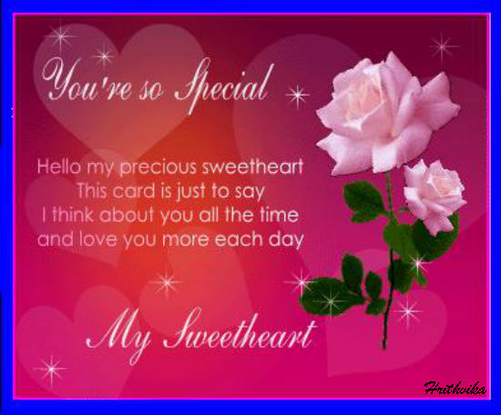 To My Precious Sweetheart.
