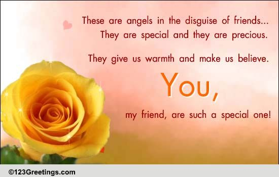 Friends Are Angels In Disguise Free Best Friends eCards  123