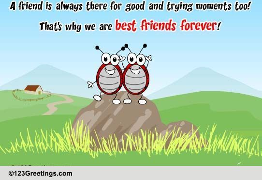 A Friend Is Someone... Free Best Friends eCards, Greeting ...