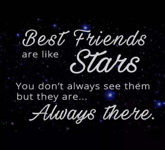 Best Friend S Are Like Stars Free Best Friends Ecards