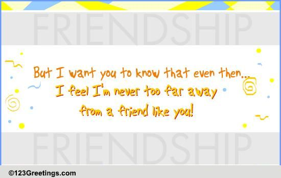 For Your Long Distance Friend Free I M Always Here For You Ecards