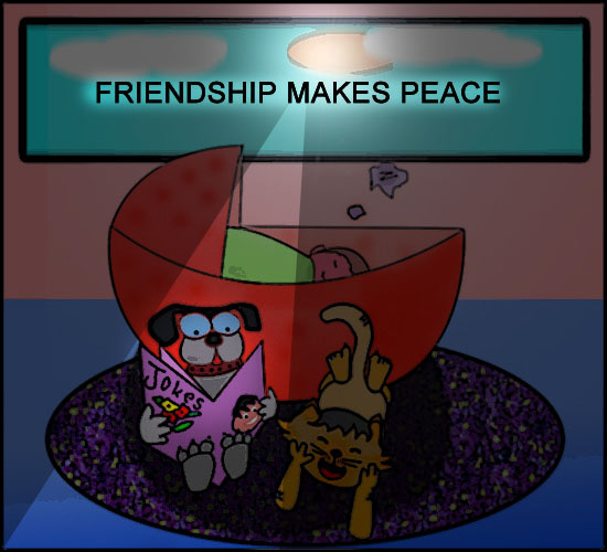 Friendship Makes Peace On Earth.