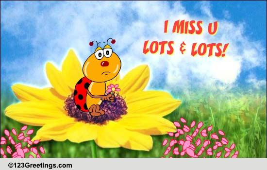 miss you lots and lots free miss you ecards greeting