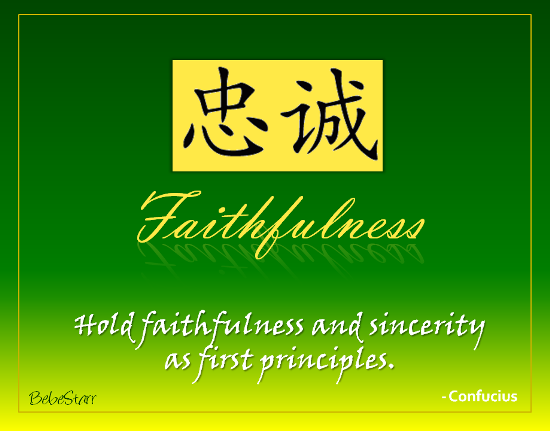 Faithfulness.