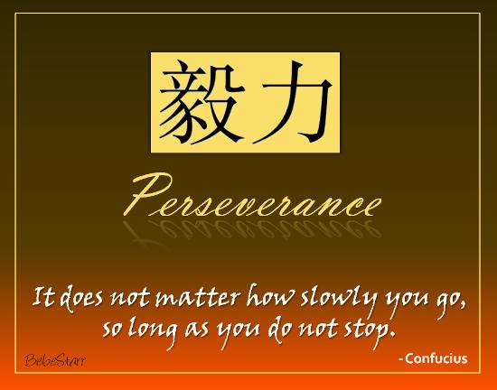 Perseverance.