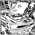 Team Of Monkeys Jump Starting A Car.