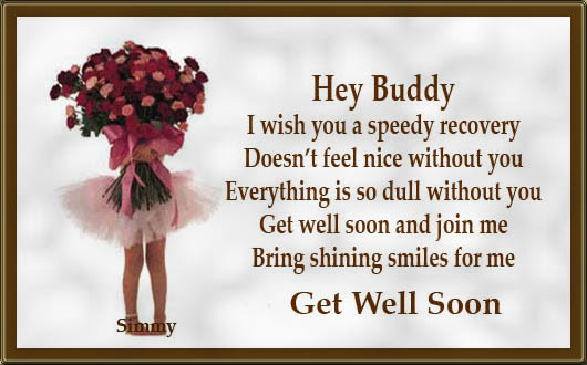 Get well soon buddy free get well soon ecards greeting cards 123 get well soon buddy m4hsunfo Choice Image