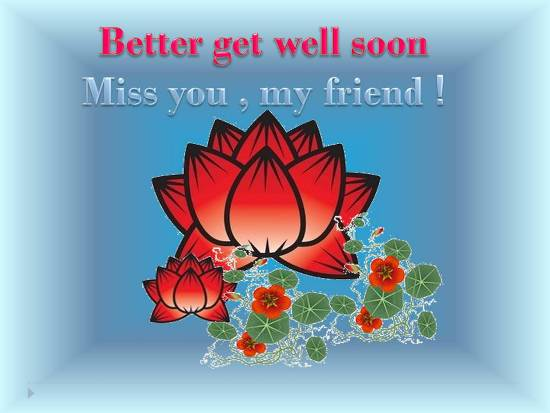 Wish Good Health To Your Dear Friend.