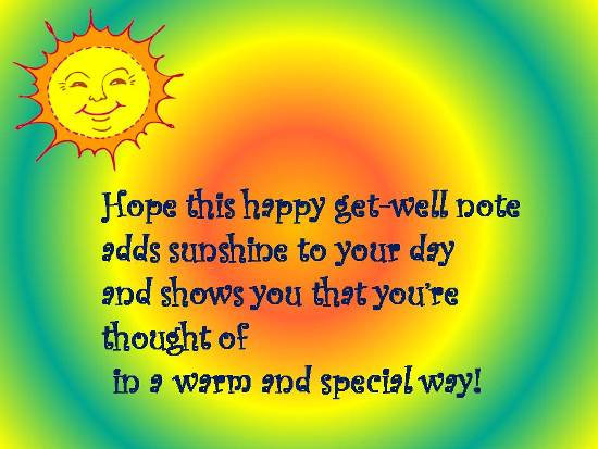 A Sunny Card To Cheer Up A Loved One.
