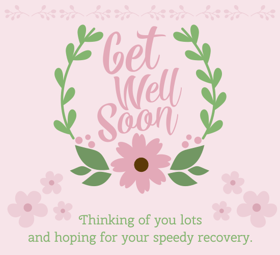 how to wish someone to get well soon in email
