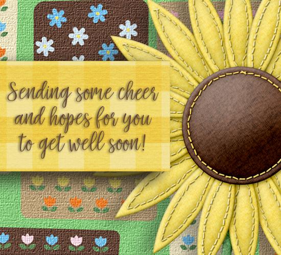 Get Well Soon Sunflower.