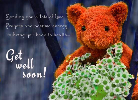Get Well Soon Wishes With Bouquet.