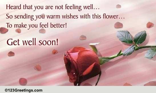 Warm Wishes! Free Get Well Soon eCards, Greeting Cards