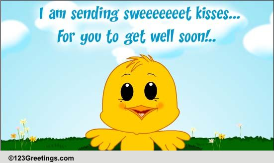 Get Well Kisses! Free Get Well Soon eCards, Greeting Cards | 123 ... Romantic Good Night Quotes For Her