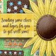Home : Everyday Cards : Get Well Soon - Get Well Soon Sunflower.