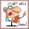Home : Everyday Cards : Get Well Soon - Beware!