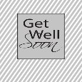 Get Well Simple, Gray Stripes.