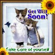 Home : Everyday Cards : Get Well Soon - Take Care Of Yourself.