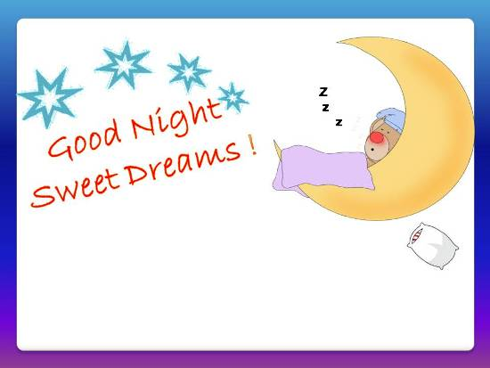 Good Night Wish For A Restful Sleep.