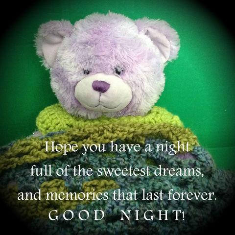 a beary good night