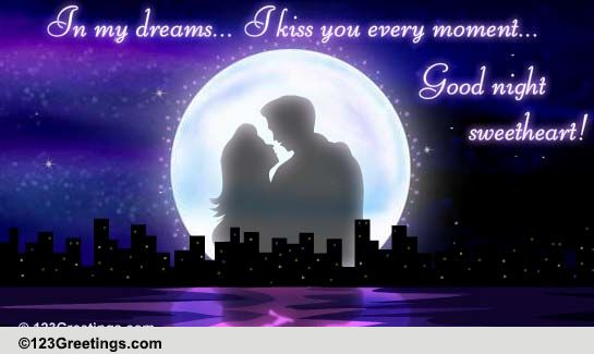 Kiss You In My Dreams! Free Good Night eCards, Greeting Cards | 123 ... Romantic Good Night Quotes For Her