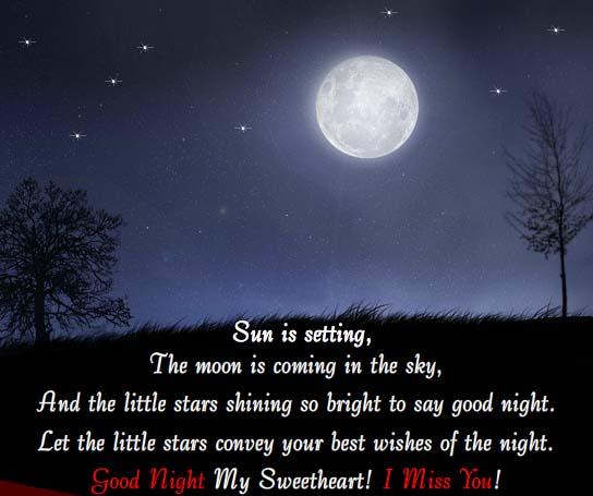 Good Night My Sweetheart! Free Good Night eCards, Greeting