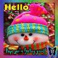 Snowman Says Hello!