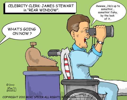 Celebrity Clerk James Stewart.