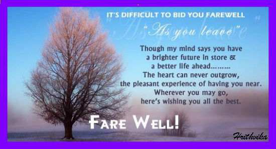 It's Difficult To Bid Farewell. Free Good Luck eCards ...