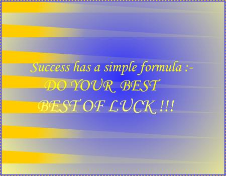 Success Formula...