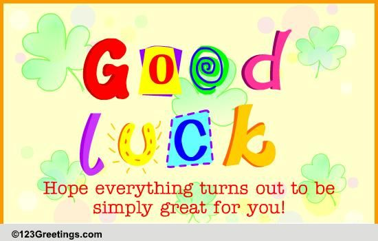 Let The Best Happen Free Good Luck eCards Greeting Cards – Best Wishes for Exams Cards