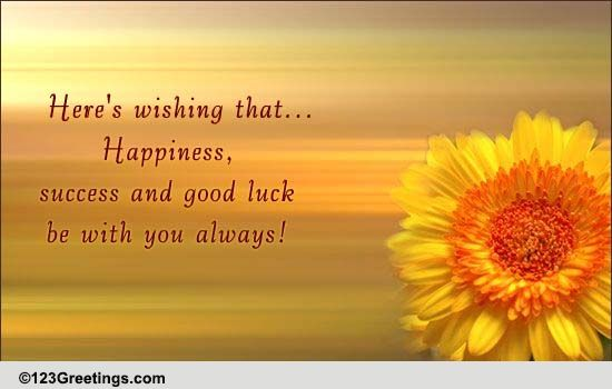 Happiness, Success And Good Luck! Free Good Luck eCards
